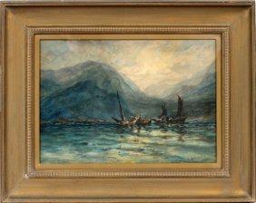 """Robert Hopkin Watercolor """"low Tide"""""""