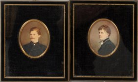 American Miniature Watercolor Portraits, Two