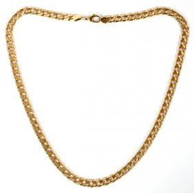 14kt Yellow Gold Italian Curb Link Chain