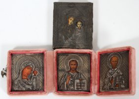 Russian Orthodox Icon & Triptych