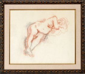 Moses Soyer Pencil Drawing