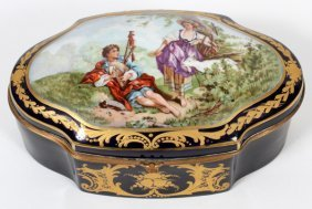 Sevres French Porcelain Jewelry Box C1920