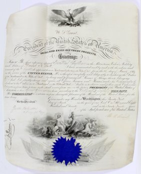 President Ulysses S. Grant Signed Proclamation