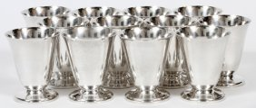 S. Kirk & Sons Sterling Wine Cups 12 Pcs