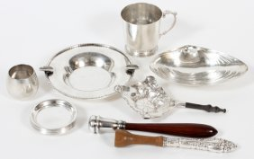 Sterling Nut Dishes, Child's Cup, Ash Tray Etc.