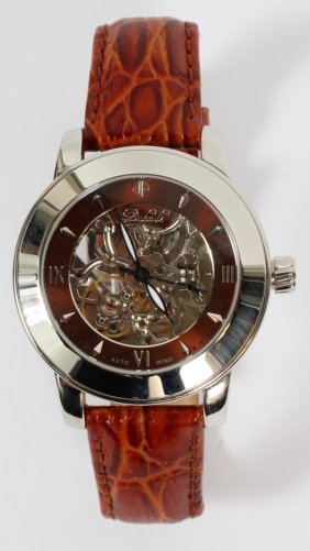 Duboule Gentlemen's Stainless Steel Skelton Watch