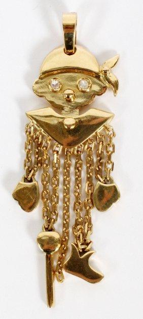 Italian 18kt Yellow Gold Puppet Charm