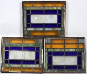 Leaded And Stained Glass Windows, Three