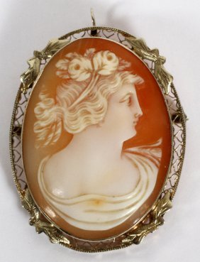 Lady's 14kt Gold And Shell Cameo