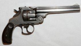 Smith & Wesson Nickel Plate .45 Caliber Revolver