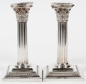 Gorham Sterling Candlesticks 1907 Pair