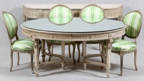 French Louis Xvi Style Dining Set 6 Pieces