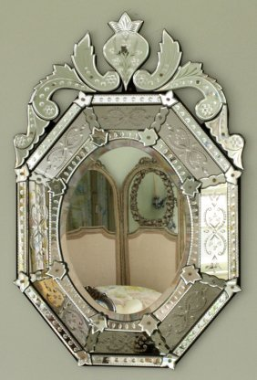 Venetian Glass Octagonal Mirror