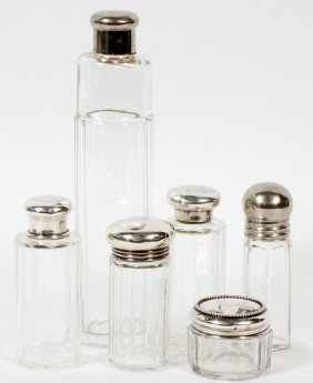 English Sterling & Silverplate Bottles C. 1910