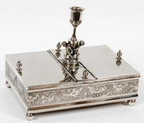 Rogers Smith Co. Silverplate Humidor C. 1865