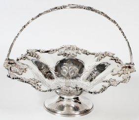 English Sheffield Plate Fruit Basket C. 1850
