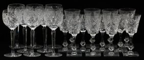 Waterford & Other Cut Crystal Wine Glasses