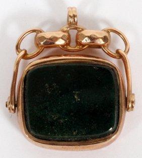 Victorian 9kt Gold & Bloodstone Fob