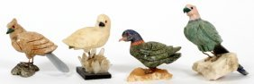 Semi-precious Stone Birds Four