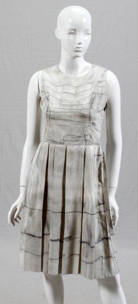 Prada Gray Silk Day Dress