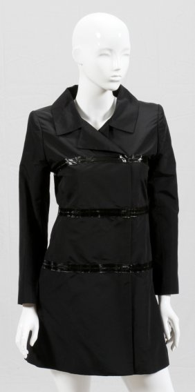 Pamella Roland Black Silk Jacket