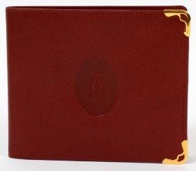 Cartier Leather Gentleman's Bi-fold Wallet