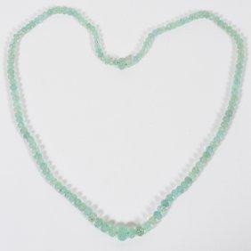 274.54ct Natural Aquamarine Bead Necklace