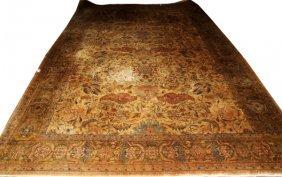 Oushak Design Handwoven Wool Carpet