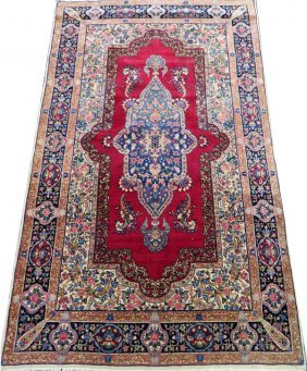 Kerman Persian Very Fine Rug Semi Antique