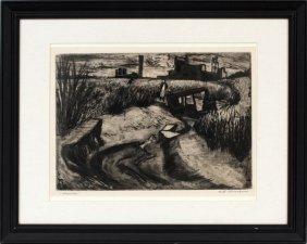 Will Barnet Aquatint Etching C. 1936 #34