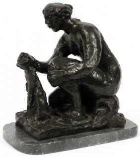 After Pierre-auguste Renoir Bronze Sculpture