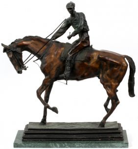 After Isidore Jules Bonheur Bronze Horse And Jockey