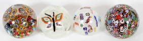 Gentile Glass & Others Glass Paperweights 4 Pcs.