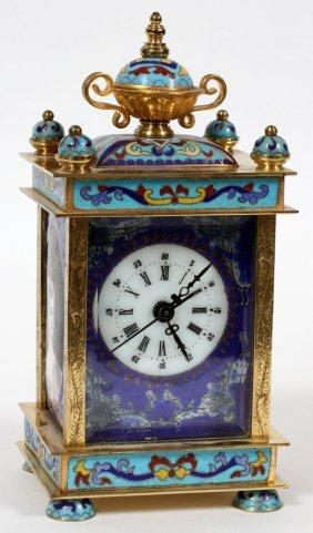 Chinese Enamel Carriage Clock