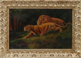 P. Leonard Oil On Canvas C.1920