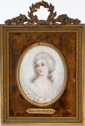 J. Colins Miniature Portrait 18th.c.