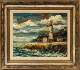 Simon Rosen Michigan Oil On Canvas