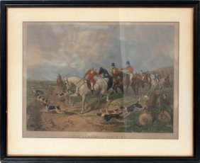 After J.f. Herring Color Lithograph 19th C
