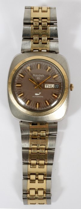 Bulova Stainless Steel 14 & 10kt Gold Filled Watch