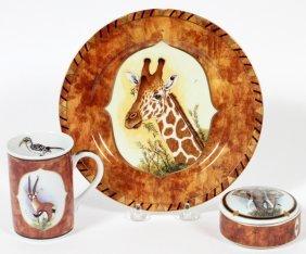 Lynn Chase African Portraits Porcelain & 24kt Gold