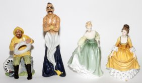 Royal Doulton Porcelain Figures Four