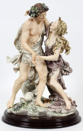 Guiseppi Armani, Italy Bisque Bacchus And Girl