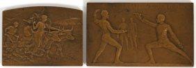 Ernesta Robert Merignac & Pillet Bronze Art Medals