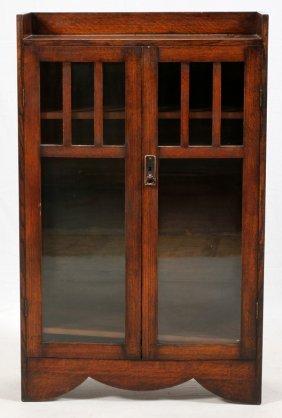 Mission Oak Double Glass Door Book Case