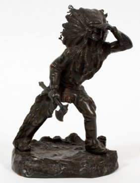 After Kauba Bronze American Indian Chief