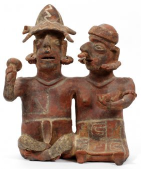 Pre-columbian Style Pottery Figural Group
