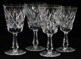 "Waterford Crystal ""kinsale"" Stemware 4 Pcs"