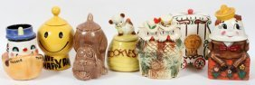 American Pottery Cookie Jars Mid-late 20th C.