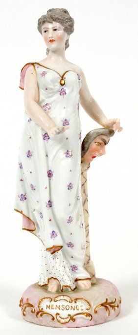 German Hand Painted Porcelain Figure Early 20th C.