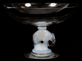 Libbey-nash 'silhouette' Glass Center Bowl
